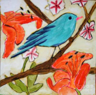 Painting - Blue Bird  by Victoria Hasenauer