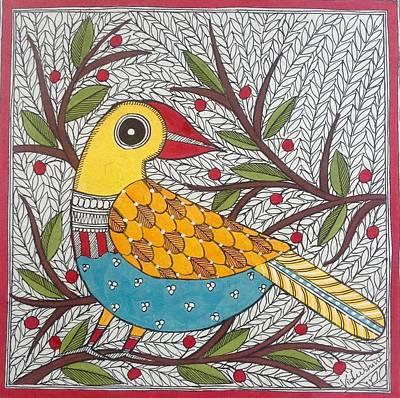 Painting - Blue Bird by Vidushini  Prasad