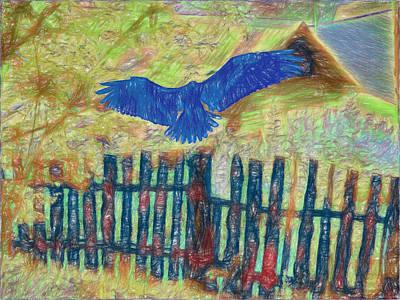 Photograph - Blue Bird by Vladimir Kholostykh