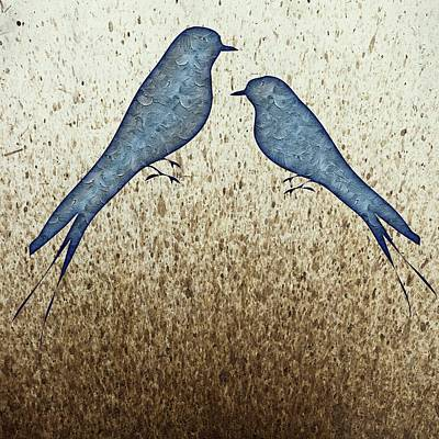 Painting - Blue Birds 2  by Movie Poster Prints