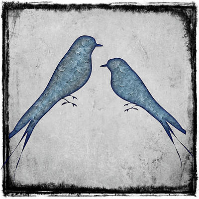 Painting - Blue Birds 3 by Movie Poster Prints