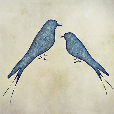 Painting - Blue Birds 4 by Movie Poster Prints