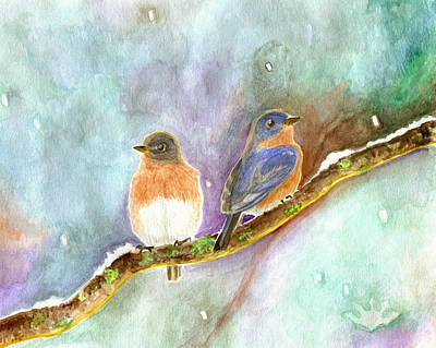 Painting - Blue Birds by Harry Moulton