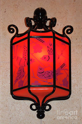 Sconce Photograph - Blue Birds In Red by Linda Phelps