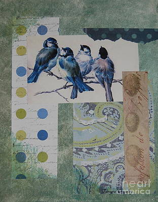 Blue Birds Art Print by Tamyra Crossley