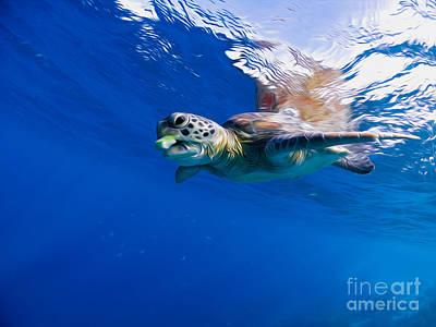 Alejandro Gutierrez Photograph - Blue Bite Reflection by Athoyo