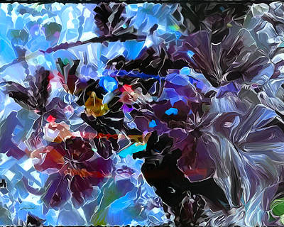 Digital Art - Blue Black Abstract by Pachek