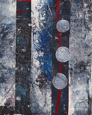 Blue Black Collage Art Print