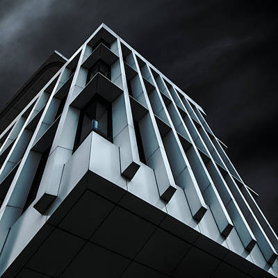 Modern Architecture Photograph - Blue Bloc by Gilbert Claes