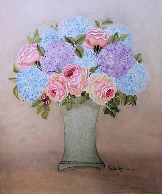 Blue Bouquet For Catherine Art Print by Victoria Long
