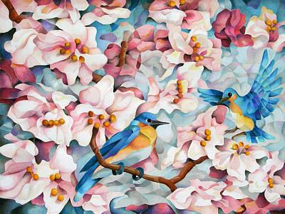 Blue Blossoms Of Happiness Original