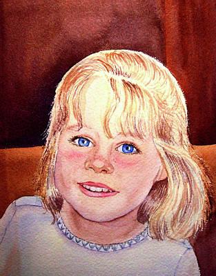Blue Blue Eyes Print by Irina Sztukowski
