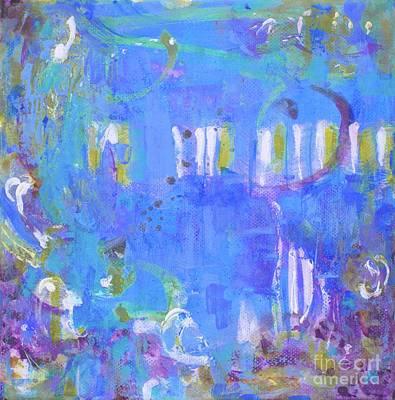 Wall Art - Painting - Blue Blues II by Marcela Levinska