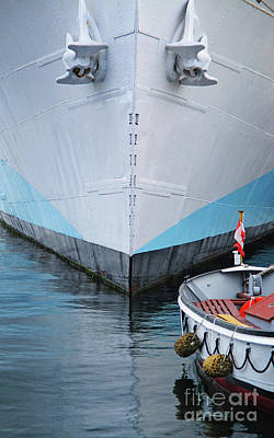 Photograph - Blue Boat Bow 2 by Randall Weidner