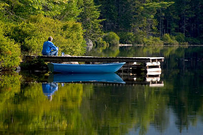 Photograph - Blue Boat by Brent L Ander