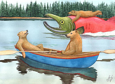 Sockeye Painting - Blue Boat by Catherine G McElroy