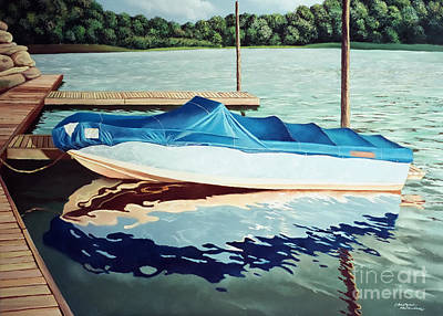 Painting - Blue Boat by Christopher Shellhammer