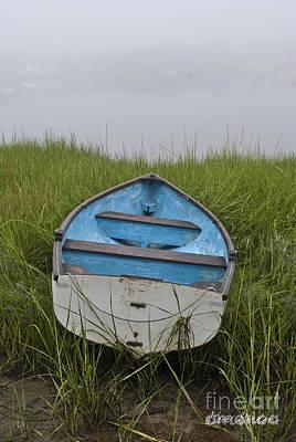 Photograph - Blue Boat by David Gordon