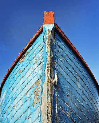 Photograph - Blue Boat by Ian Merton