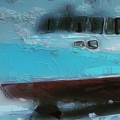 Poppet Photograph - Blue Boat by Judy Bernier