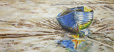 Painting - Blue Boat by Marty Garland