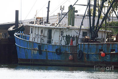 Photograph - Blue Boat by Mary Haber