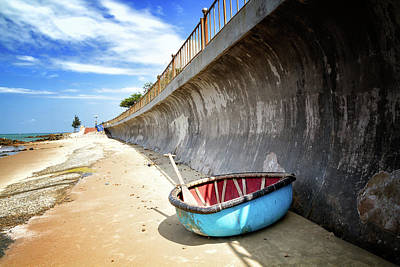Photograph - Blue Boat by Marzena Grabczynska Lorenc