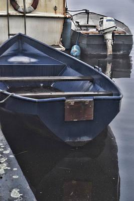 Digital Art - Blue Boat by Mihaela Pater