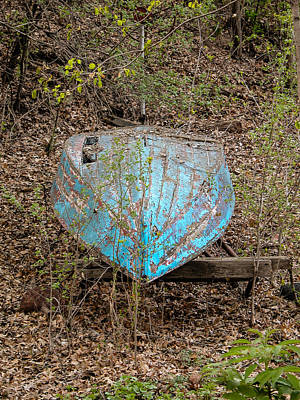 Photograph - Blue Boat by Mike Evangelist