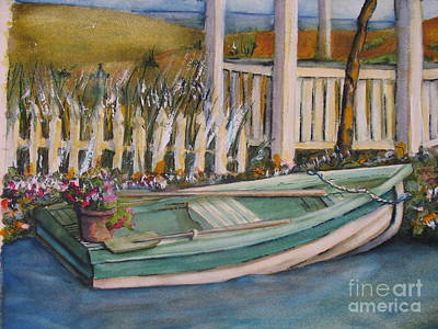 Painting - Blue Boat by Pamela Shearer