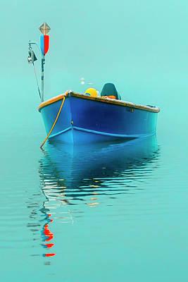 Photograph - Blue Boat Reflections by Dapixara Art