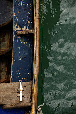Photograph - Blue Boat, Venice by Art Ferrier