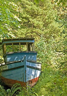 Vern Photograph - Blue Boat by Vern Minard
