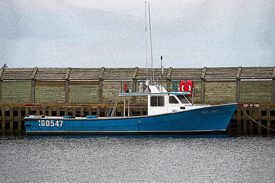 Photograph - Blue Boat by WB Johnston