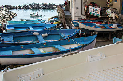 Photograph - Blue Boats In Italy  by John McGraw