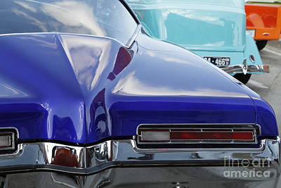 Photograph - Blue Boattail Buick by Dennis Hedberg