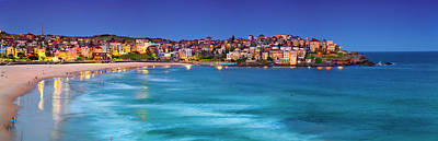 Bondi Beach Photograph - Blue Bondi by Sean Davey