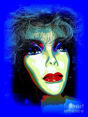 Digital Art - Blue Bonita by Ed Weidman