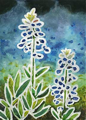 Painting - Blue Bonnets by Katie Sasser