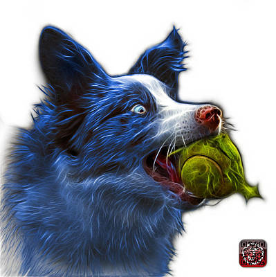 Painting - Blue Border Collie - Elska -  9847 - Wb by James Ahn