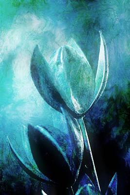 Blue Botanicals Art Print