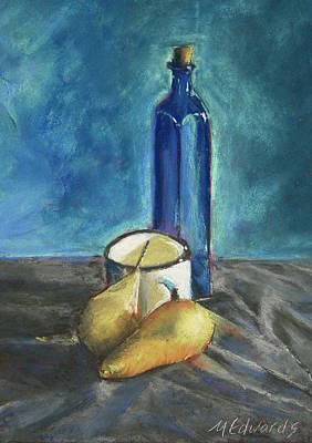Painting - Blue Bottle And Pears by Marna Edwards Flavell