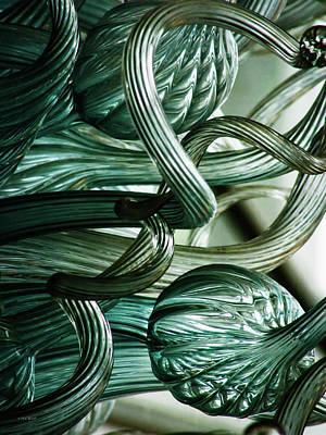 Photograph - Blue Bottle Tinted Glass Sculpture 4591 Dp_2 by Steven Ward