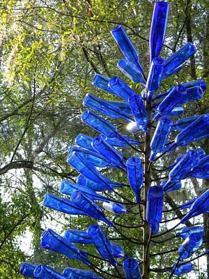Blue Bottle Tree Art Print by Warren Thompson