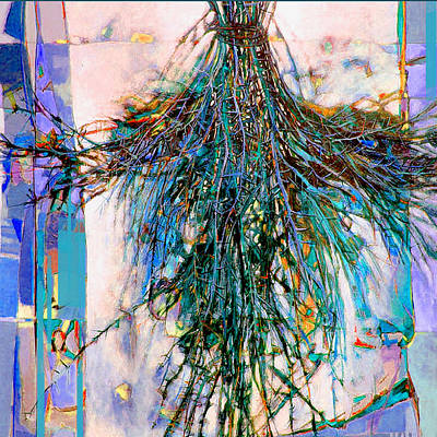 Painting - Blue Bouquet Iv by Dale Witherow