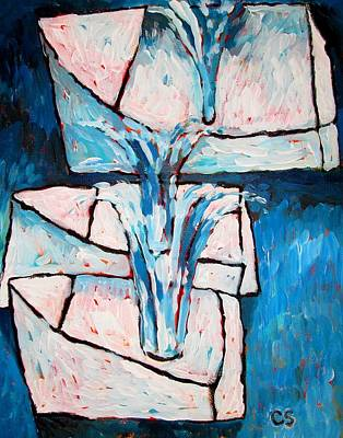 Blue Bouquets Original by Charlie Spear