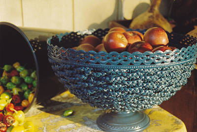 Blue Bowl Print by Jan Amiss Photography