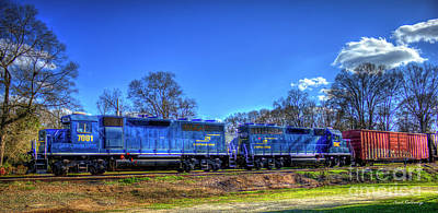 Blue Boys Carterparrott Railnet Locomotive Train Art Art Print