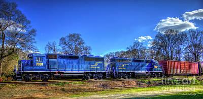 Photograph - Blue Boys Carterparrott Railnet Locomotive Train Art by Reid Callaway