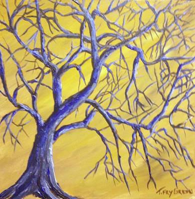 Painting - Branches Of Blue by T Fry-Green
